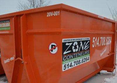 Conteneur de 20 verges de Zone Conteneur Inc à Mirabel - Zone Conteneur Inc. Montréal