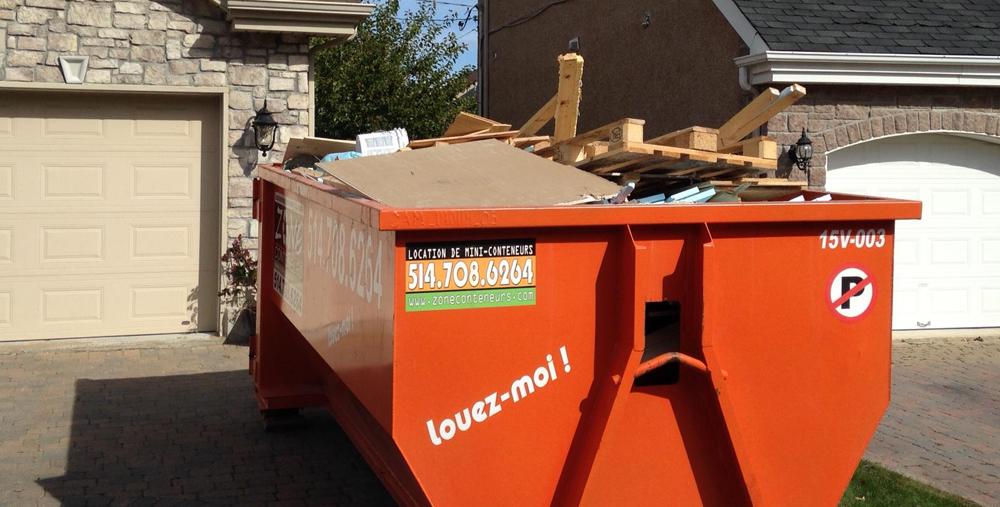 Location de conteneur à déchet à Mirabel - Zone Conteneurs Inc. à Montréal