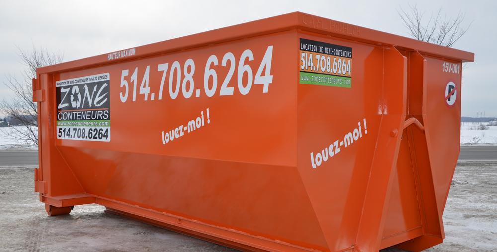 Location de conteneur pour entrepreneur à Mirabel - Zone Conteneurs Inc. à Montréal