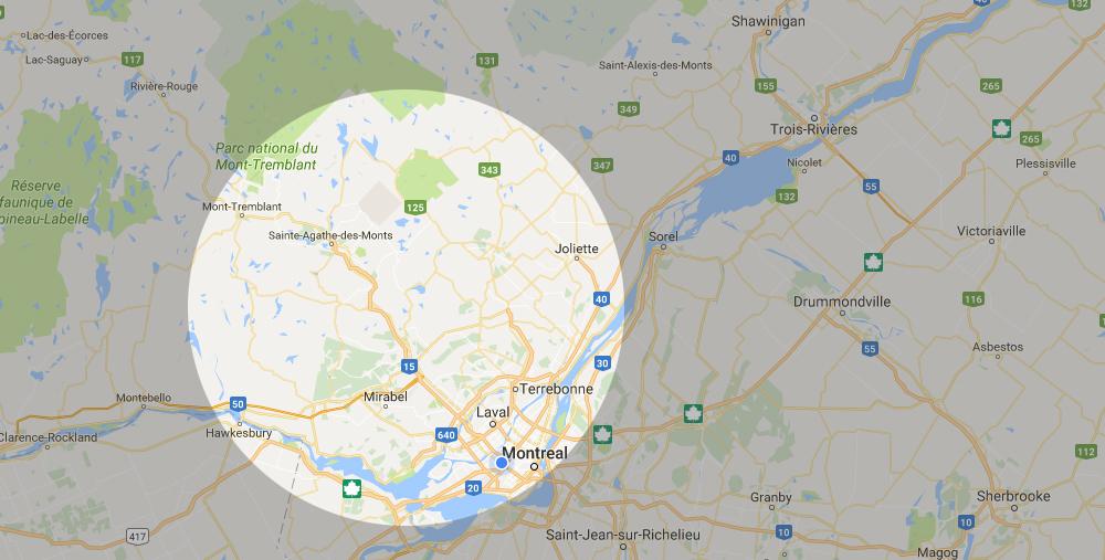Régions desservies de Zone Conteneur Inc. à Mirabel - Zone Conteneurs Inc. - Montreal