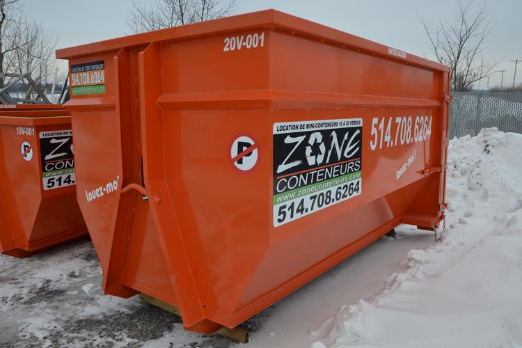 Conteneur de 15 verges cube de Zone Conteneurs Inc. à Mirabel - Zone Conteneurs Inc. - Montréal