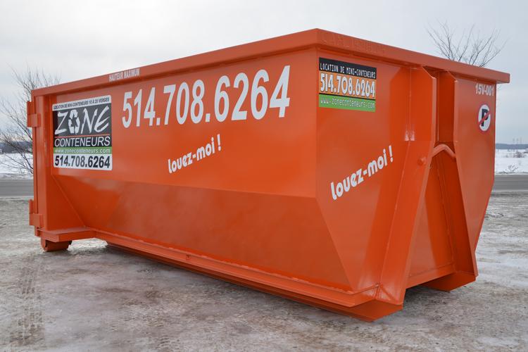 Conteneur de 5-10 verges cube de Zone Conteneurs Inc. à Mirabel - Zone Conteneurs Inc. - Montréal