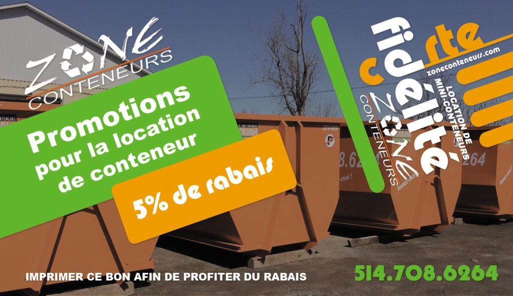 Promotions pour les membres VIP - Zone Conteneurs Inc. à Mirabel, Montréal